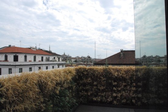 Armani Hotel Milano: View to the right from our deck