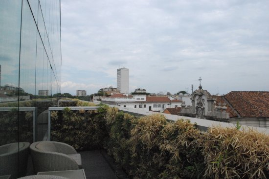 Armani Hotel Milano: View to the left from our deck
