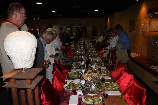 Castelculier, فرنسا: le repas gallo-romain