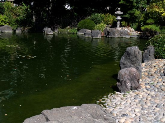 concrete lantern - Picture of The San Mateo Japanese Garden, San