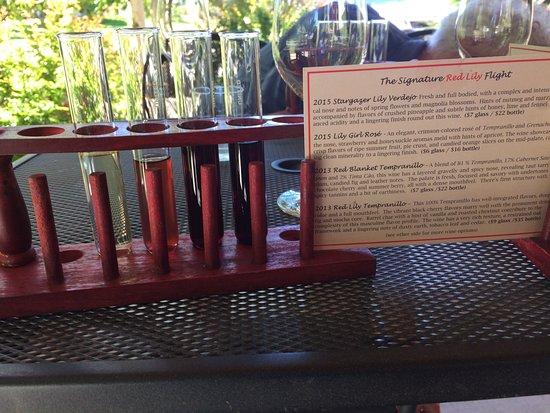 Red Lily Vineyards: Beer flights