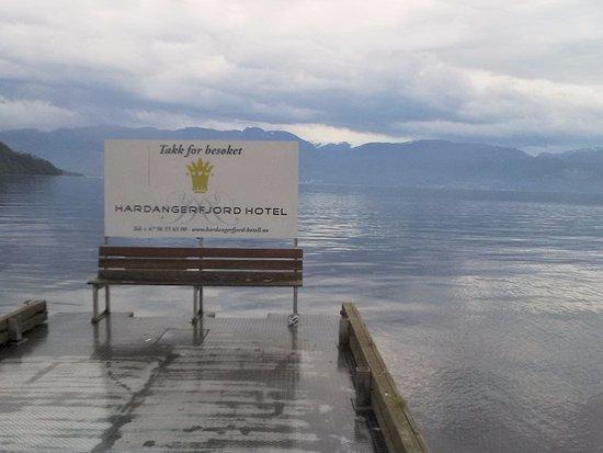 Oystese, Norway: Pontile sul fiordo