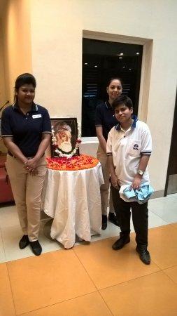 Ginger Hotel Jamshedpur: Taken during Jamshedji Tata's Birthday Celebration on 3rd March with Surbhi and Rumana