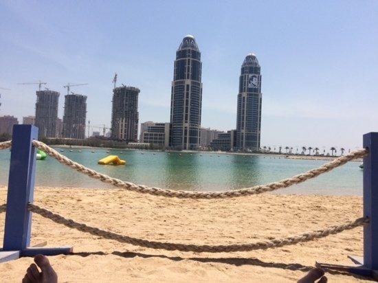 Grand Hyatt Doha Hotel & Villas: view from their private beach