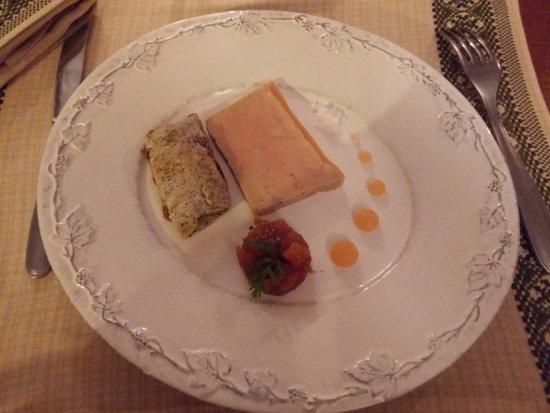 Montlouis-sur-Loire, Francia: Foie gras avec son chutney de melon et son croquignon aux épices