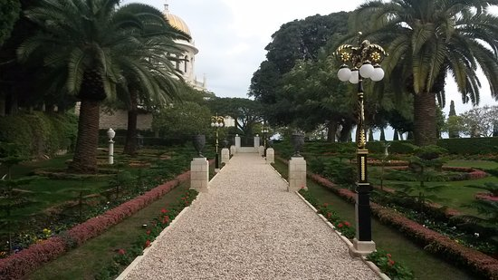 Bahai Gardens  and Shrine: Beautiful Bahai Gardens