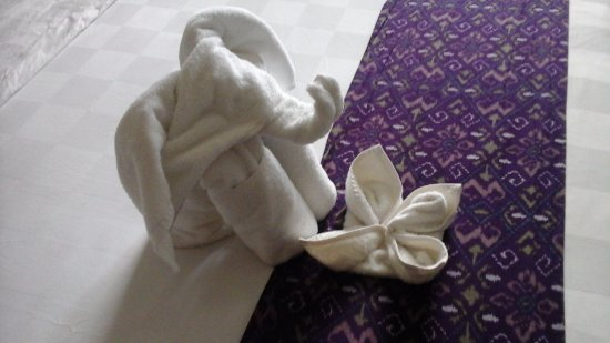 Amadea Resort & Villas: Towel origami