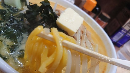 Aji no Sapporo Onishi : 麺は黄色くて太い