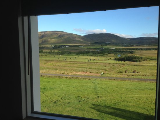 Minna-Mosfell Guesthouse: the view from our room