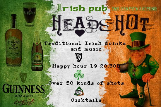 ‪Headshot The Irish pub‬
