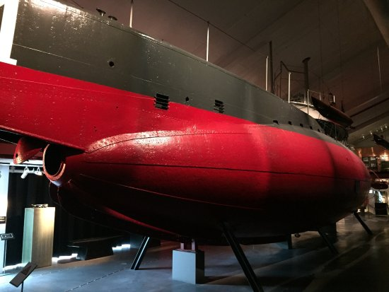Marine Museum Karlskrona : The first one is the torpedo hole of the submarine Neptune. A must see place