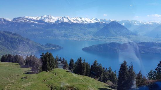 Mineralbad & Spa Rigi-Kaltbad: on the way up
