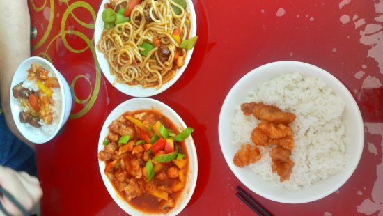 Wuhai, Cina: Just some lunch.