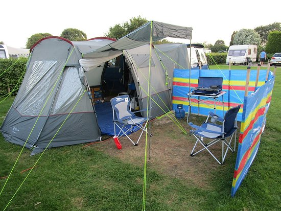 Monkton Wyld Caravan and Camping Park: Our camping pitch.