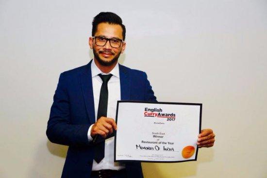 Farnham Common, UK: Proud Winner of English Curry Awards
