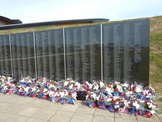 Capel-le-Ferne, UK: The Memorial Wall