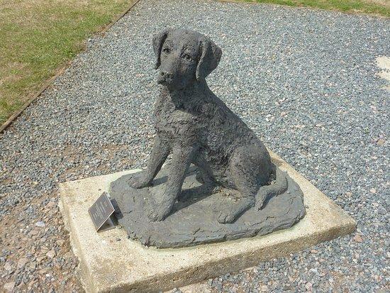Capel-le-Ferne, UK: Lifelike Scuplture of Dog - companion & friend to the airmen