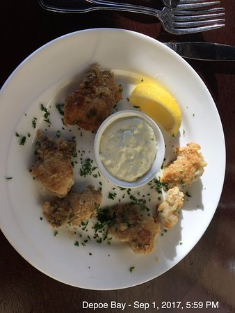 Depoe Bay, OR: Pan-fried oysters