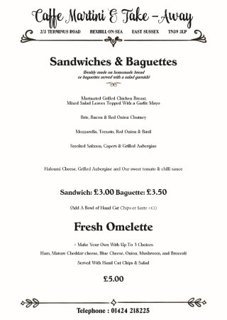 Bexhill-on-Sea, UK: Sandwiches