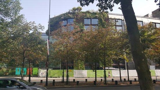 Vue extérieure. Bien cachée la façade avec son jardin vertical ...