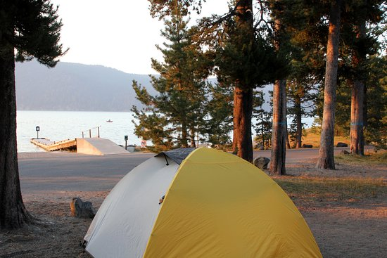 La Pine, OR: East Lake Campground site #1