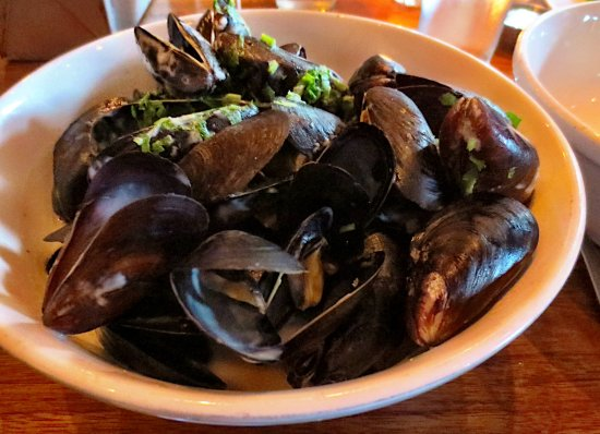 Oyster Club: Steamed mussels appetizer were a meal by themselves