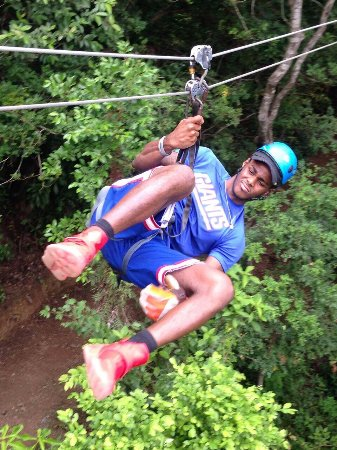 Coxen Hole, Honduras: I Usually Smile But Was Kinda Focused On Pulling Off A Trick Zip Lining Is Such A Good Time