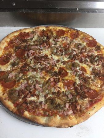 Joseph's Pizza/meat lovers Pizza. Delicious!!