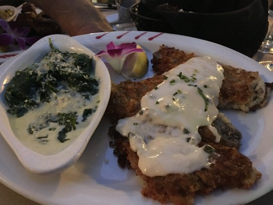 Holdren's Steaks & Seafood: Sand Dabs and Creamed Spinach