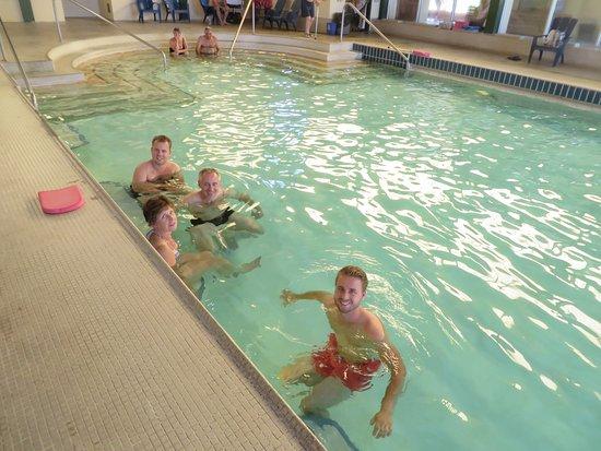Harrison Village Motel: the hot springs pool
