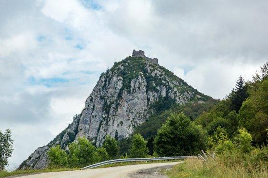 Ruiny zamku w Montsegur