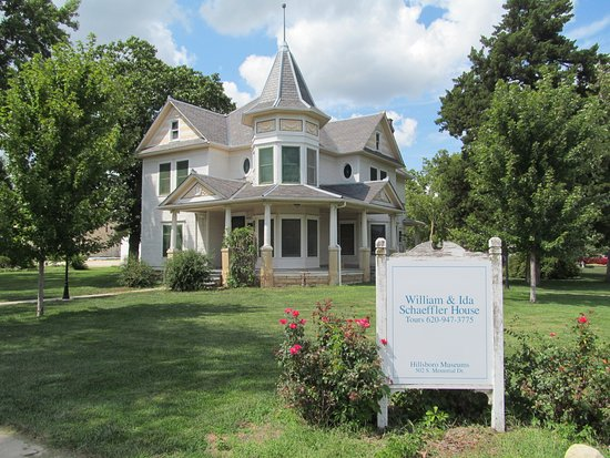 Hillsboro, KS: William & Ida Schaeffler's 1909 Queen-Anne-style home on National Register of Historic Places.