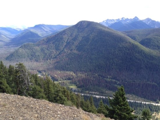 Manning Park, Canada: Windy Joe mountain 1843m as viewed from Cascade lookout across the valley