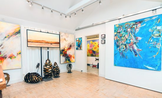 Wellington, Canada : Main room of Sybil Frank Gallery.  Artwork changes every 4 weeks.