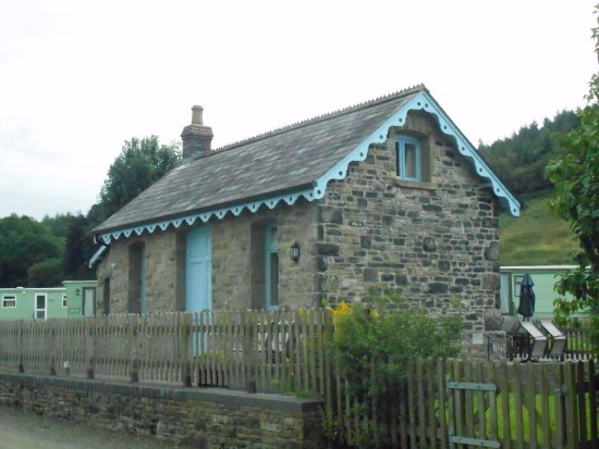 New Radnor, UK: The old station building.