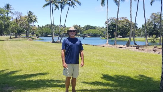 Wailoa River State Recreation Area: Park with bridges in the back