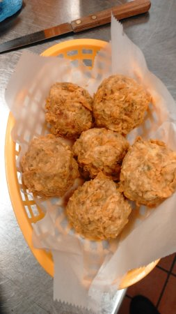 Caldwell, TX: Boudin Balls a great appetizer