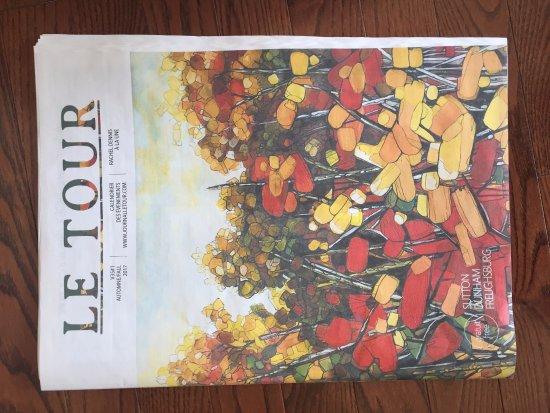 Brome, Canada: Journal local dans la chambre.