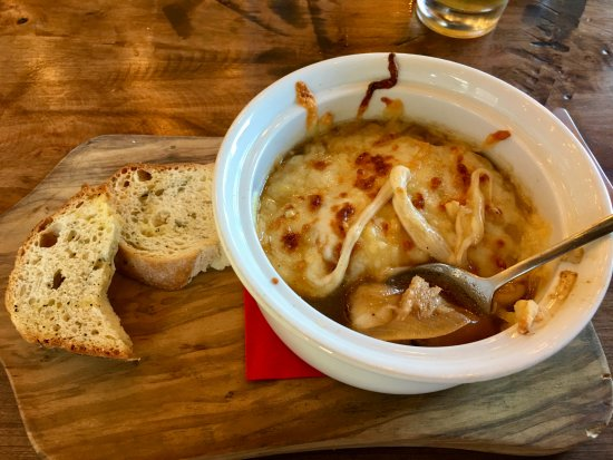 Eagle, CO: French onion soup, very good