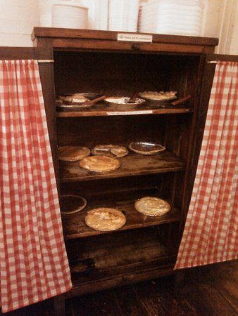 Pies! And they are made right on the premises. Very good.