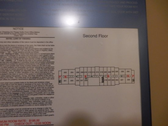 Hampton Inn & Suites Fredericksburg: map of layout of building