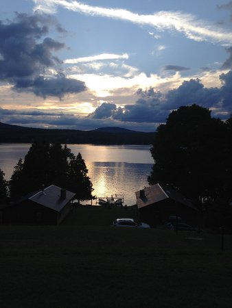 Westmore, VT: Even during a cloudy sunset the sky is spectacular from our cabin.