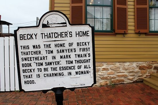 Becky Thatcher's House: The house of Tom Sawyer's firs sweetheart