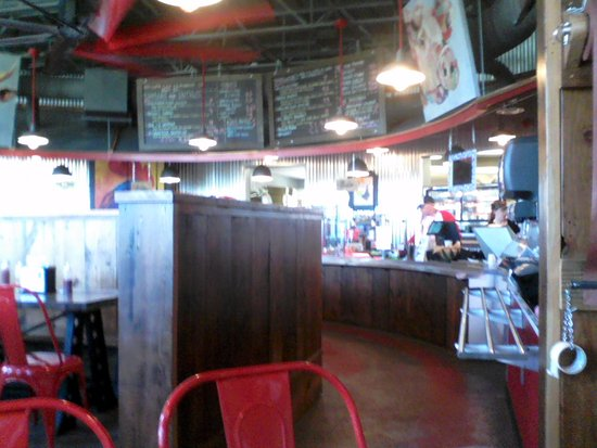Cadiz, KY: Inside Triplet's - view of the counter shot #1