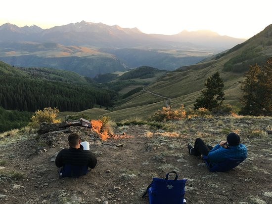 San Juan Hut Systems : Day 1 - incredible view after a grueling ascent.