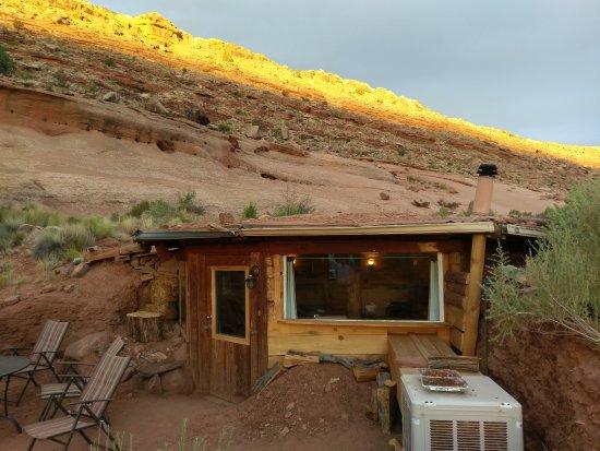 Firetree Bed & Breakfast : hogan exterior at sunrise