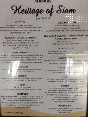 thai phuket menu