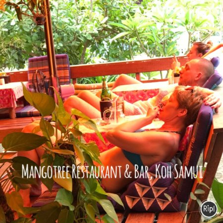 Mango Tree Restaurant & Bar Lipa Noi, Samui: Chill on the day @mango tree samui