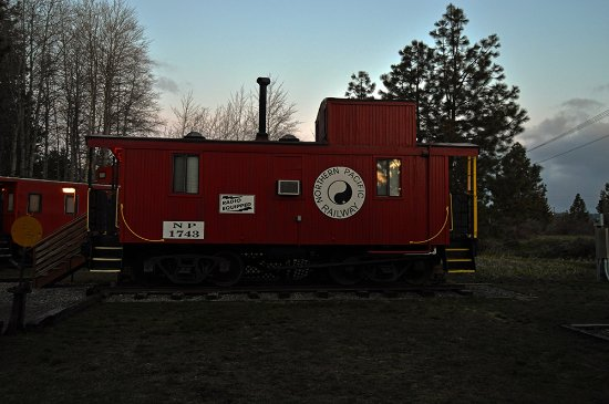 Iron Horse Inn Bed & Breakfast: The Northern Pacific caboose suite.