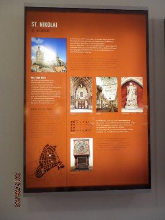 Stralsund, Jerman: 展示の写真パネル